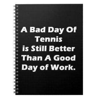 Un mún día de tenis spiral notebook