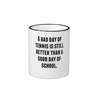 Un mún día de tenis taza
