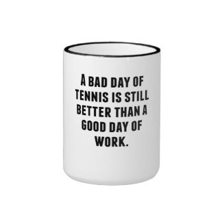 Un mún día de tenis tazas de café