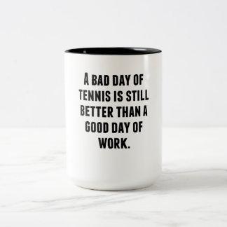 Un mún día de tenis taza de café