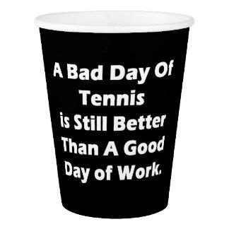 Un mún día de tenis vaso de papel