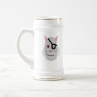 Un mún gato jarra de cerveza