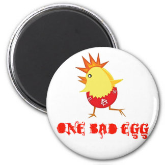 Un mún imán del polluelo de Pascua del punk rock d