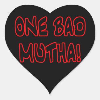 ¡un mún mutha! pegatina en forma de corazón