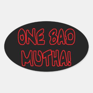 ¡un mún mutha! pegatina ovalada