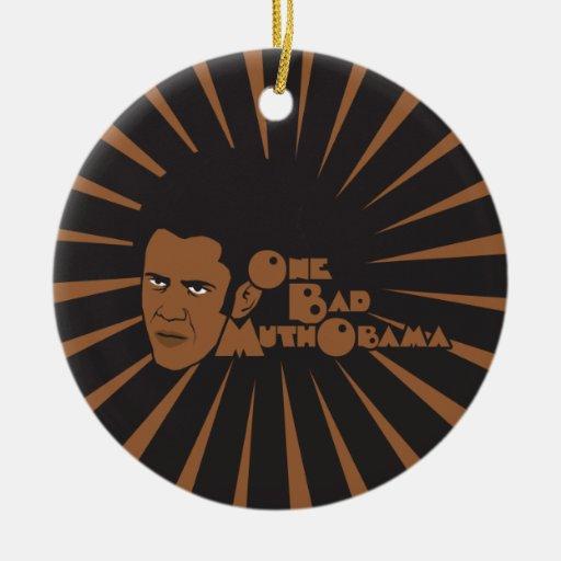Un mún Obama Adorno Navideño Redondo De Cerámica