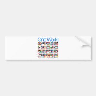 Un mundo etiqueta de parachoque