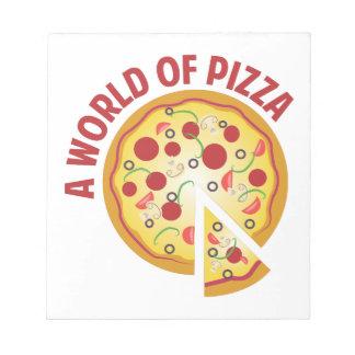Un mundo de la pizza libreta para notas