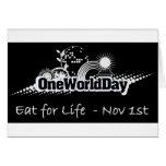 Un mundo día 1 de noviembre tarjeton