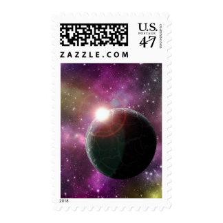 UN MUNDO DISTANTE (espacio exterior) 4x6 ~.jpg Sellos Postales