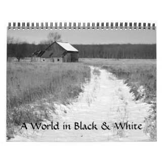 Un mundo en blanco y negro calendario