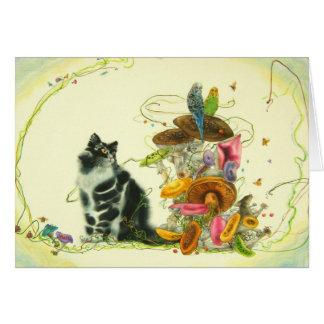 Un mundo encantador tarjeta de felicitación