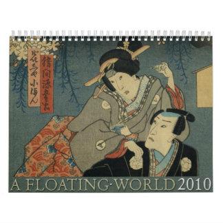 Un mundo flotante calendarios