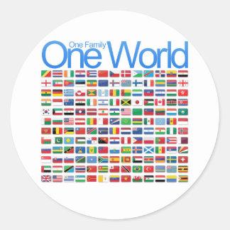 Un mundo pegatinas