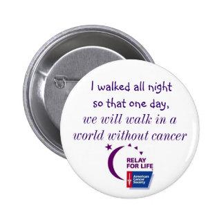 Un mundo sin el cáncer pin redondo 5 cm