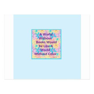 Un mundo sin los libros estaría como tarjeta postal