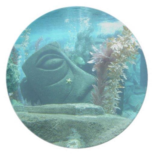 Un mundo subacuático plato de comida