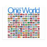 Un mundo tarjeta postal