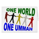 Un mundo uno Ummah Felicitación
