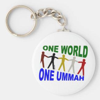 Un mundo uno Ummah Llavero Redondo Tipo Pin