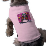 Un muñeco de nieve del hippy ropa de perros