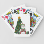 Un muñeco de nieve para el navidad barajas de cartas