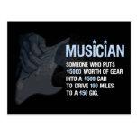 Un músico es… tarjeta postal