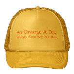 Un naranja al día guarda escorbuto en la bahía gorros