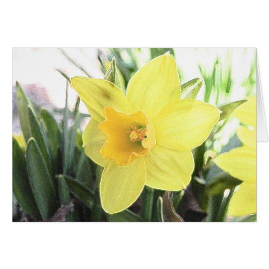 Un narciso amarillo alegre tarjeta de felicitación