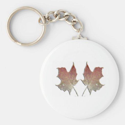 Un Natural Leaves Basic Round Button Keychain