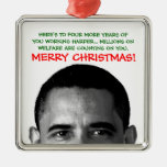Un navidad más duro Barack Obama del trabajo Ornamento Para Reyes Magos