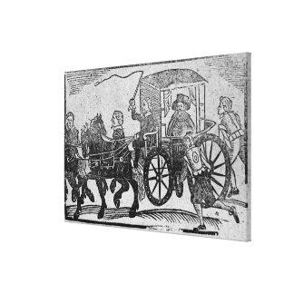 Un noble en su carro lienzo envuelto para galerias