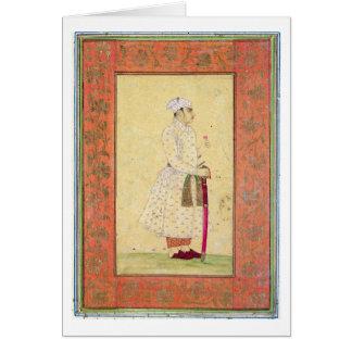 Un noble joven de la corte de Mughal, del lar Felicitación