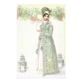 Un Noel feliz - Jane Austen inspirados Papeleria De Diseño