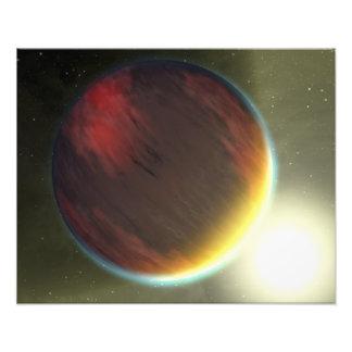 Un nublado Júpiter-como el planeta que está en órb Fotos