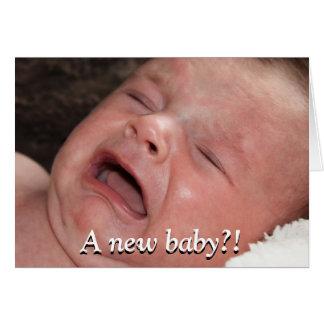 ¡Un nuevo bebé?! ¡Buena suerte con eso! Divertido Tarjeta De Felicitación