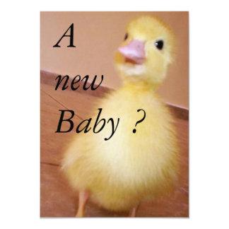 """Un nuevo bebé invitación 4.5"""" x 6.25"""""""