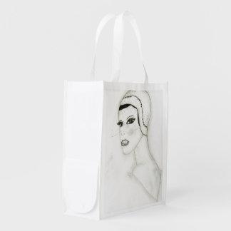 Un nuevo chica de la aleta bolsa para la compra