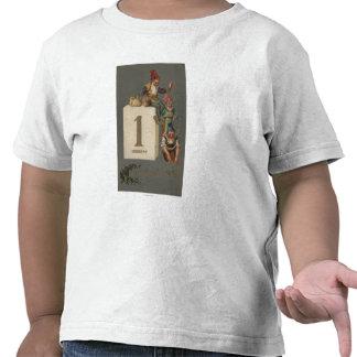 Un nuevo dinero que lanza feliz de YearGnomes Camisetas