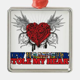 Un nuevo Hampshirite robó mi corazón Ornamentos De Navidad