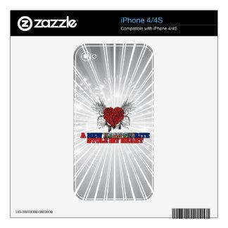 Un nuevo Hampshirite robó mi corazón Calcomanía Para iPhone 4