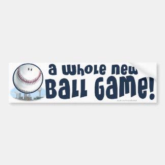 ¡Un nuevo juego de pelota entero! Bumpersticker Etiqueta De Parachoque