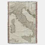 Un nuevo mapa de Italia con las islas de Sicilia Manta