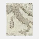 Un nuevo mapa de Italia con las islas de Sicilia Manta De Forro Polar