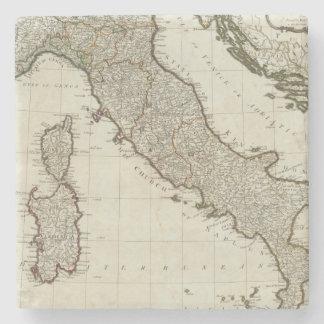 Un nuevo mapa de Italia con las islas de Sicilia Posavasos De Piedra