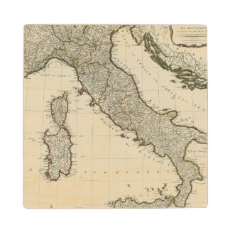 Un nuevo mapa de Italia con las islas de Sicilia Posavasos Madera