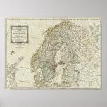 Un nuevo mapa de los estados septentrionales póster