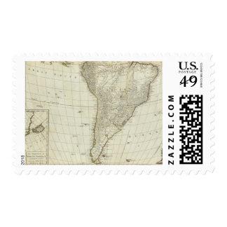 Un nuevo mapa del continente entero de América Sello