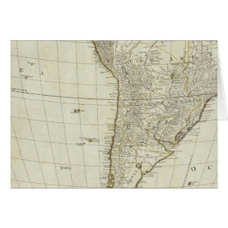 Un nuevo mapa del continente entero de América Felicitacion