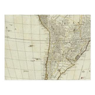 Un nuevo mapa del continente entero de América Postal